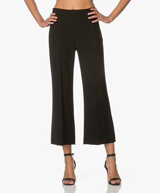 Theory Pants Laleenka in Admiral Crepe - Black