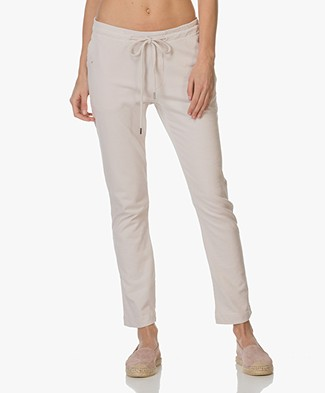BRAEZ Cropped Pants with Folded Hem - Chalk
