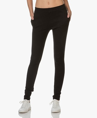 BY-BAR Stretchy Rib Pants Mon -  Black