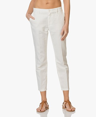 Closed Jack Linen and Cotton Blend Chinos - Off-White
