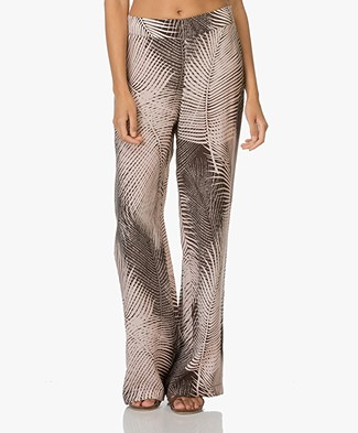 Kyra & Ko Helga Print Trousers - Chocolate