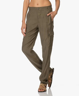 Drykorn Utility Cupro Trousers - Green