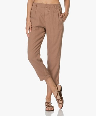 Drykorn Cropped Trousers - Dark Pink