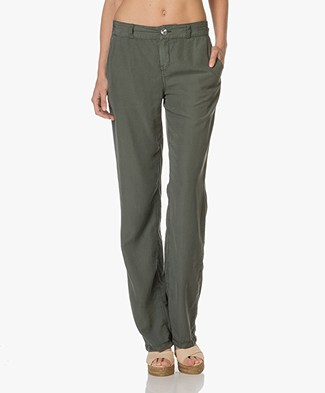 Drykorn Pajamas Lyocell Trousers - Green