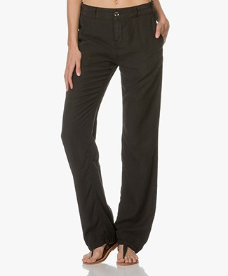 Drykorn Pajamas Lyocell Trousers - Black