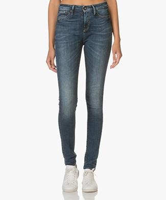 Denham Needle High Skinny Jeans - Dark Blue
