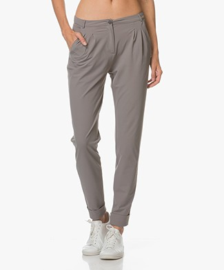 JapanTKY Ina Pants with Folded Hem - Grey