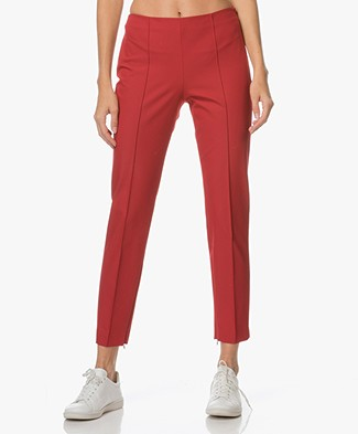 Theory Alettah Cropped Pants - Crimson Red