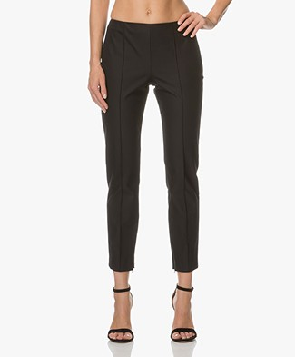Theory Alettah Cropped Pants - Black