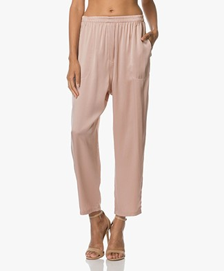 extreme cashmere N°48 Pygama Pants in Silk - Tea Rose