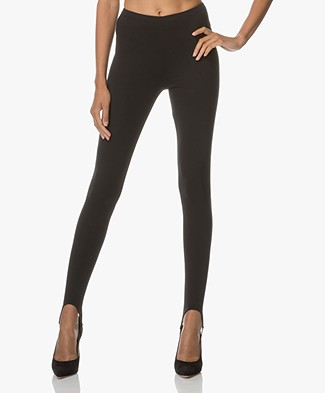 Anine Bing Leggings with Stirrups - Black
