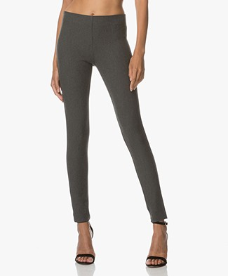 Joseph Gabardine Stretch Leggings - Graphite
