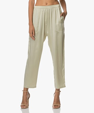 extreme cashmere N°48 Pygama Pants in Silk - Mint