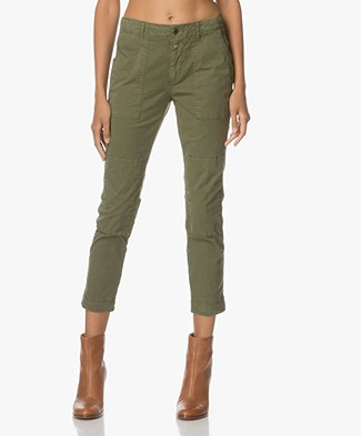 Closed Fibi Cropped Chino in Cotton - Olive