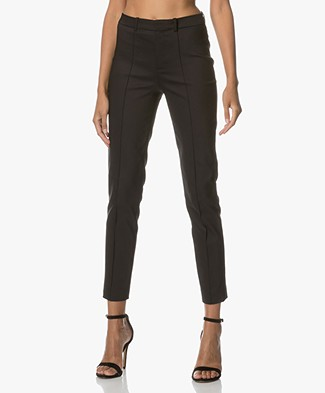 Drykorn Pants Act in Fine Cotton-stretch - Black