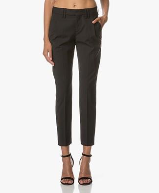 Drykorn Dip Cropped Cool Wool Pants - Black