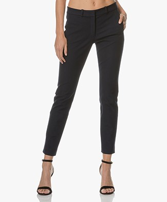 Joseph New Eliston Stretch Pants - Navy