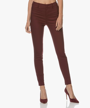 Drykorn Winch Stretchy Slim-Fit Pants - Burgundy