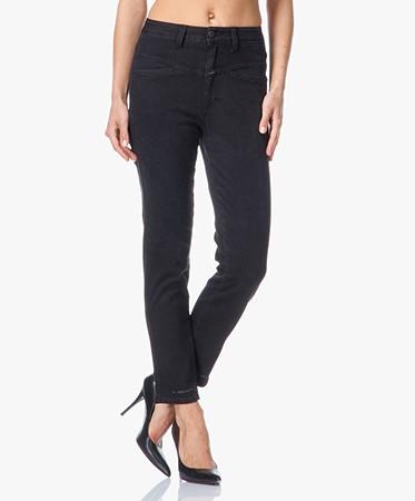 closed stockroom pedal pusher jeans zwart pedal pusher. Black Bedroom Furniture Sets. Home Design Ideas