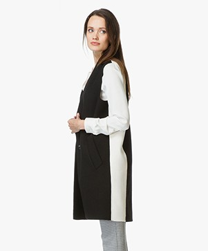Rag & Bone Rockley Wollen Gilet - Zwart/Wit