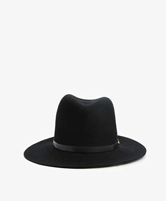 Rag & Bone Floppy Brim Fedora Hat - Black