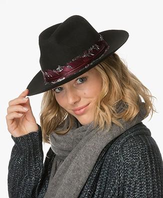 Zadig et Voltaire Alabama Felt Hat - Black