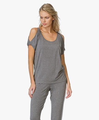 Calvin Klein Cut-Out Top - Charcoal Heather