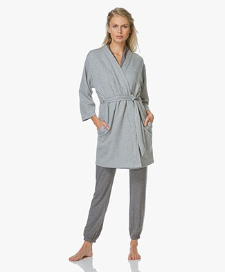 Calvin Klein Quilted Robe - Grey Heather