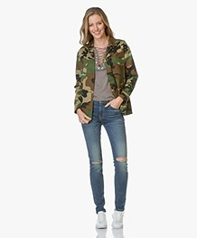 Rag & Bone Irving Camo Shirt Jacket - Army Print