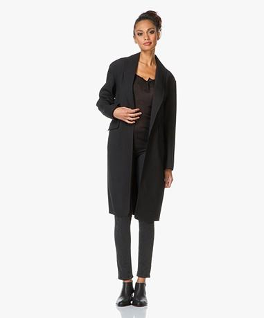 Alexander Wang Oversized Classic Coat - Zwart