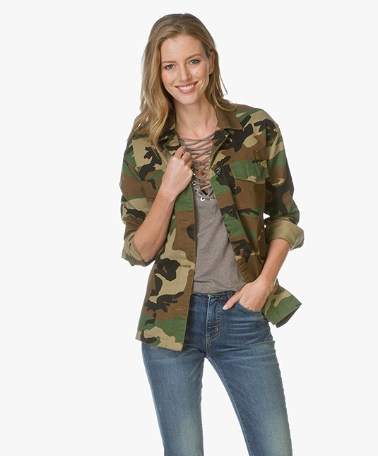 Rag & Bone Irving Camo Shirt Jacket - Army Print