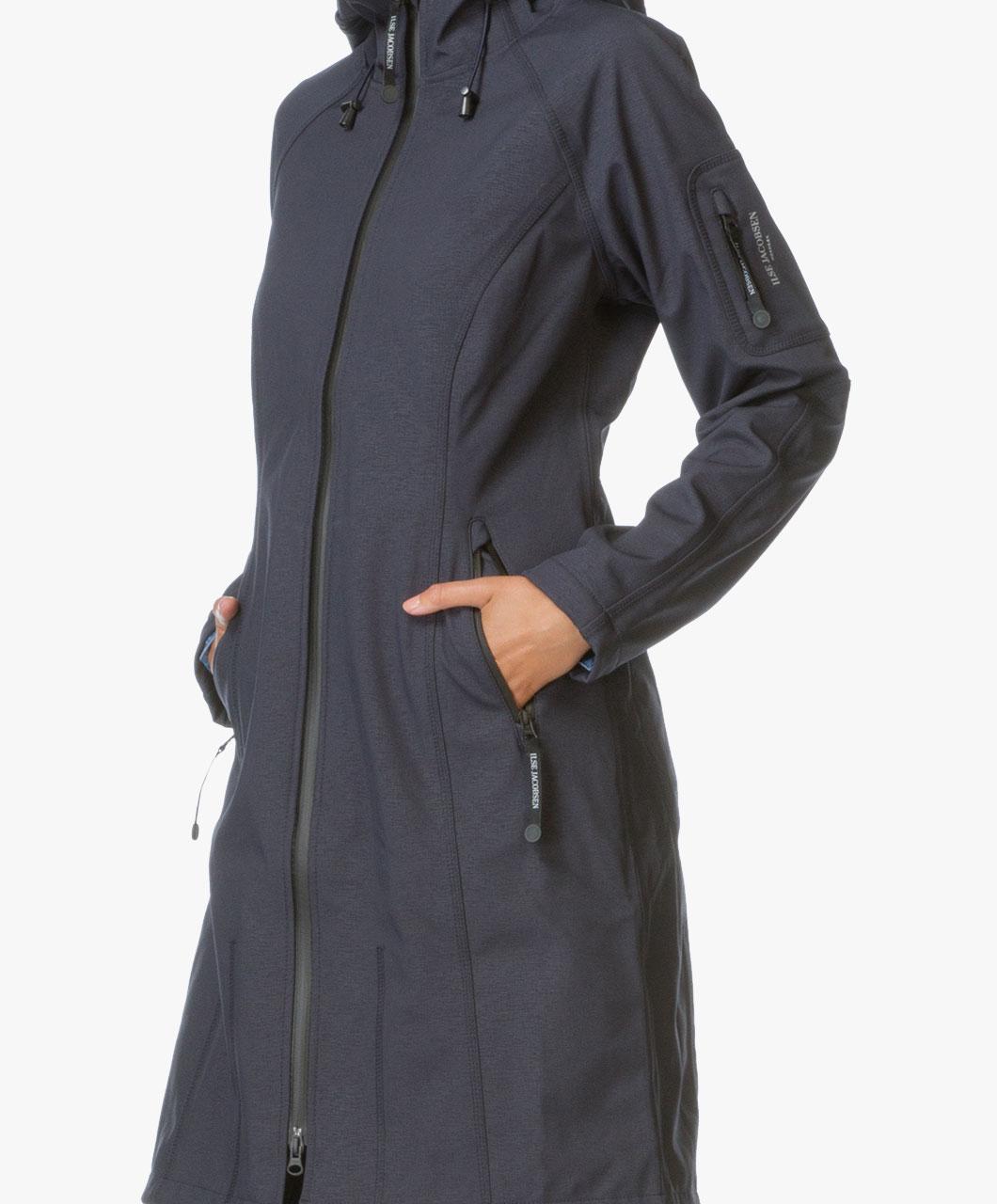 a8e7f4d3ff859c Ilse Jacobsen Long Softshell Raincoat Rain37L - Dark Indigo - rain37l 660 -  dark indigo