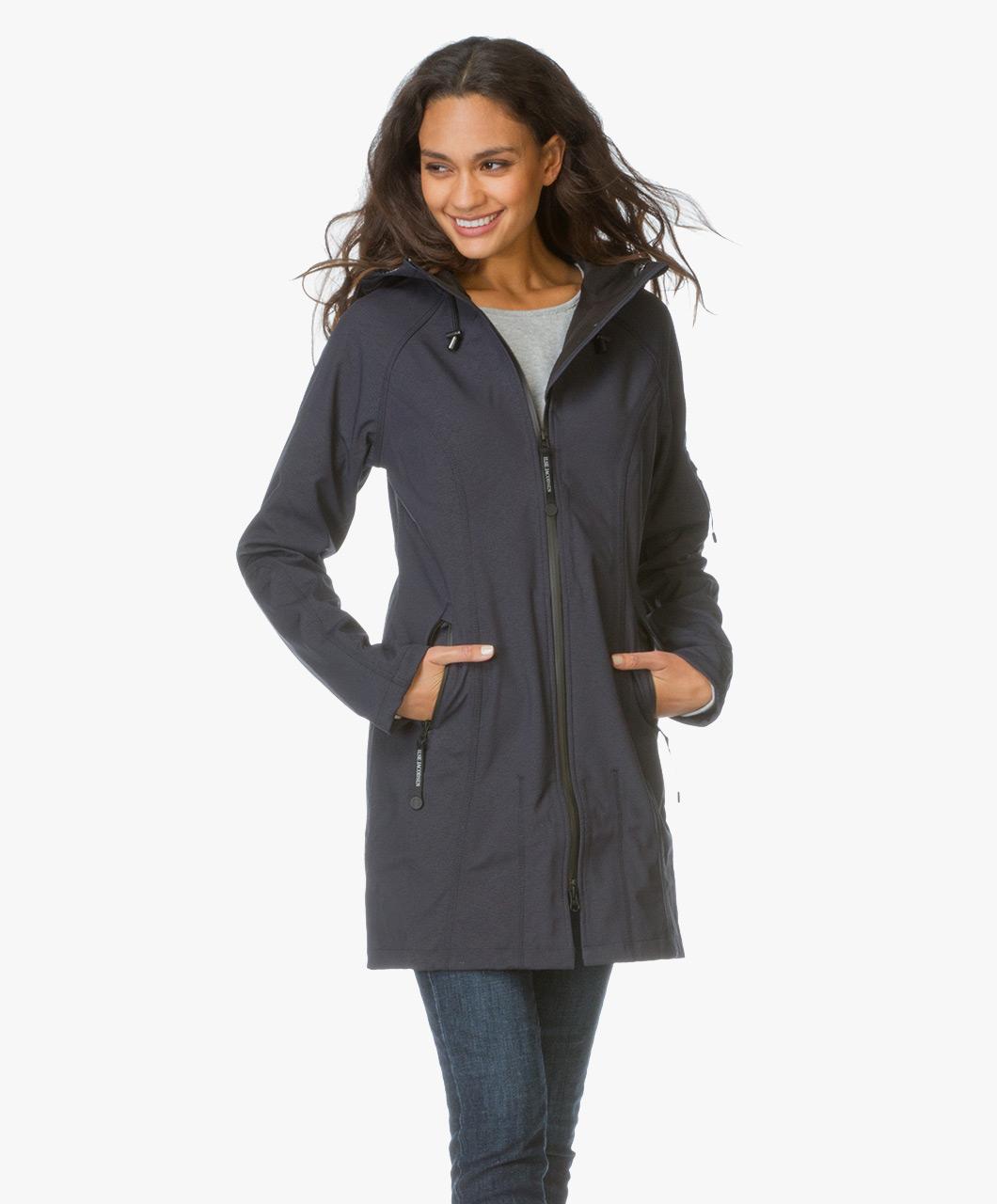 ilse jacobsen softshell raincoat rain37 indigo rain37 620 indigo. Black Bedroom Furniture Sets. Home Design Ideas
