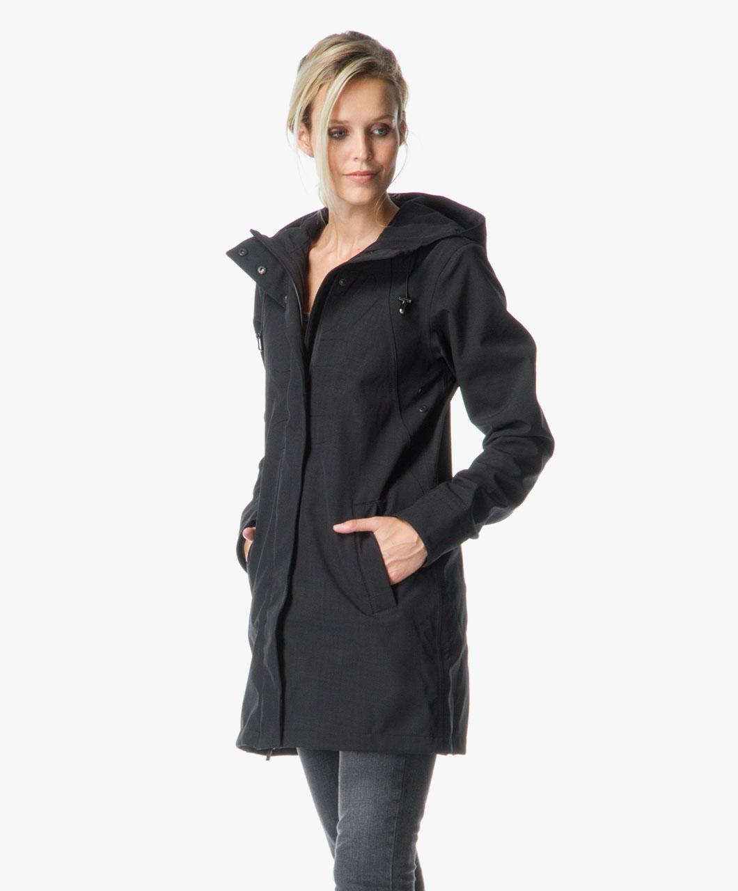 4ac31d9ec0e9f1 Ilse Jacobsen Softshell Raincoat Rain50 - Black - Ilse Jacobsen
