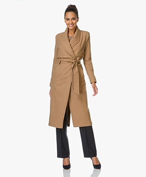 Drykorn Parsons Wool Blend Trench Coat