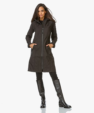 Ilse Jacobsen Long Softshell Raincoat Rain37L - Black
