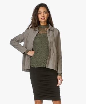 Majestic Linen Blouse jacket - Khaki