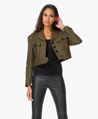 Alexander Wang Cropped Military Jacket
