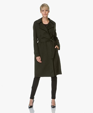 Theory Oaklane Cashmere Trench Coat