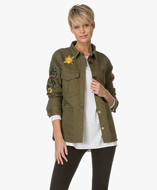 Zadig et Voltaire Tacki Tattoo Jacket - Khaki