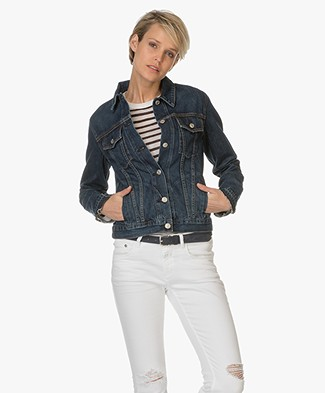 Rag & Bone / Jean Cuffless Denim Jacket - Medium Indigo