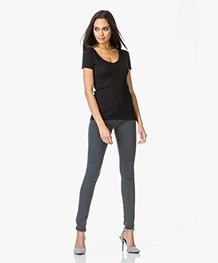 MM6 Skinny Jeans met Onafgewerkte Zoom - Grijs