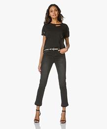 Anine Bing Raw Hem Jeans - Charcoal