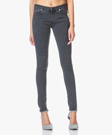 MM6 Skinny Jeans with Unfinished Hem - Grey