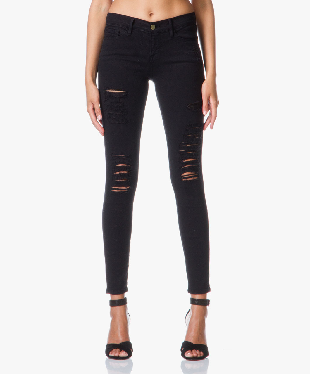 Colored Ripped Jeans - Jeans Am
