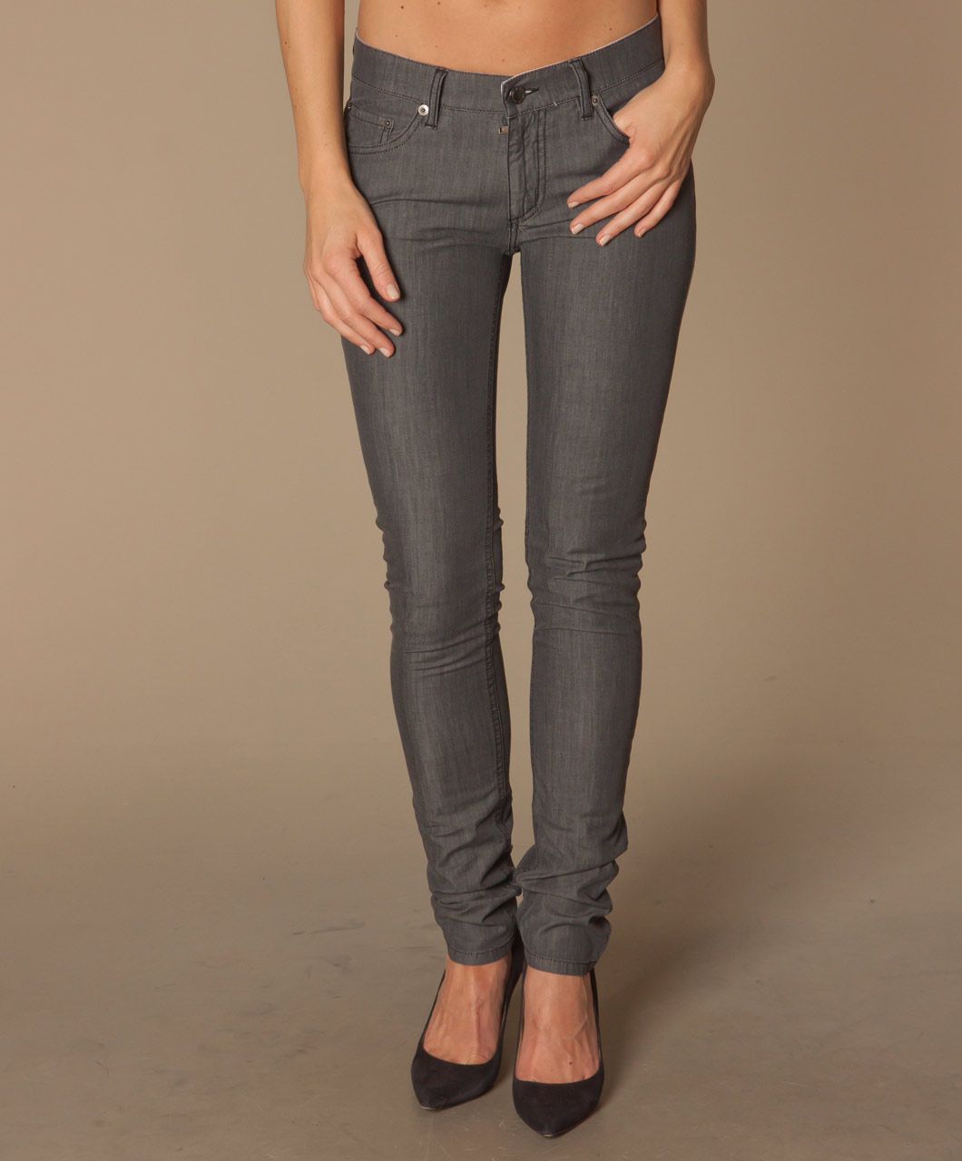 Dark Grey Skinny Jeans Womens | Bbg Clothing