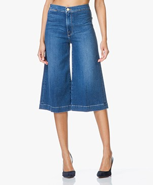 Frame Le Culotte Cropped Wide-leg Jeans - Sweetzer
