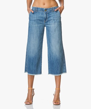 Current/Elliott The Cropped Hampden Jeans - Blue Ocean