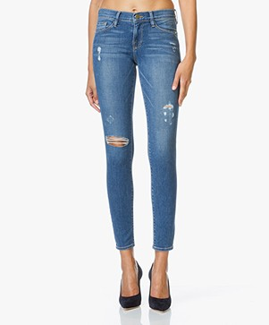 Frame Le Skinny de Jeanne Distressed Jeans - Jewell