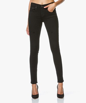Rag & Bone / Jean High Rise Skinny Jeans - Coal